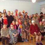 Выступление учеников воскресной школы в Доме престарелых с.Кубитет